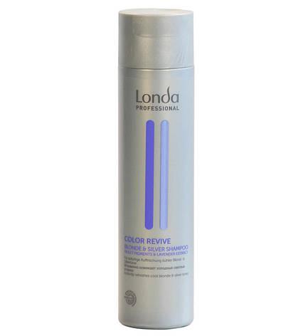 Шампунь для світлих відтінків волосся Londa Professional Color Revive Blond & Silver Shampoo 250 мл, фото 2