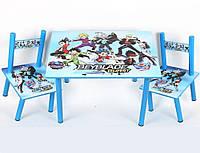 Набор детской деревянной мебели Столик + 2 стульчика BeyBlade Бейблейд