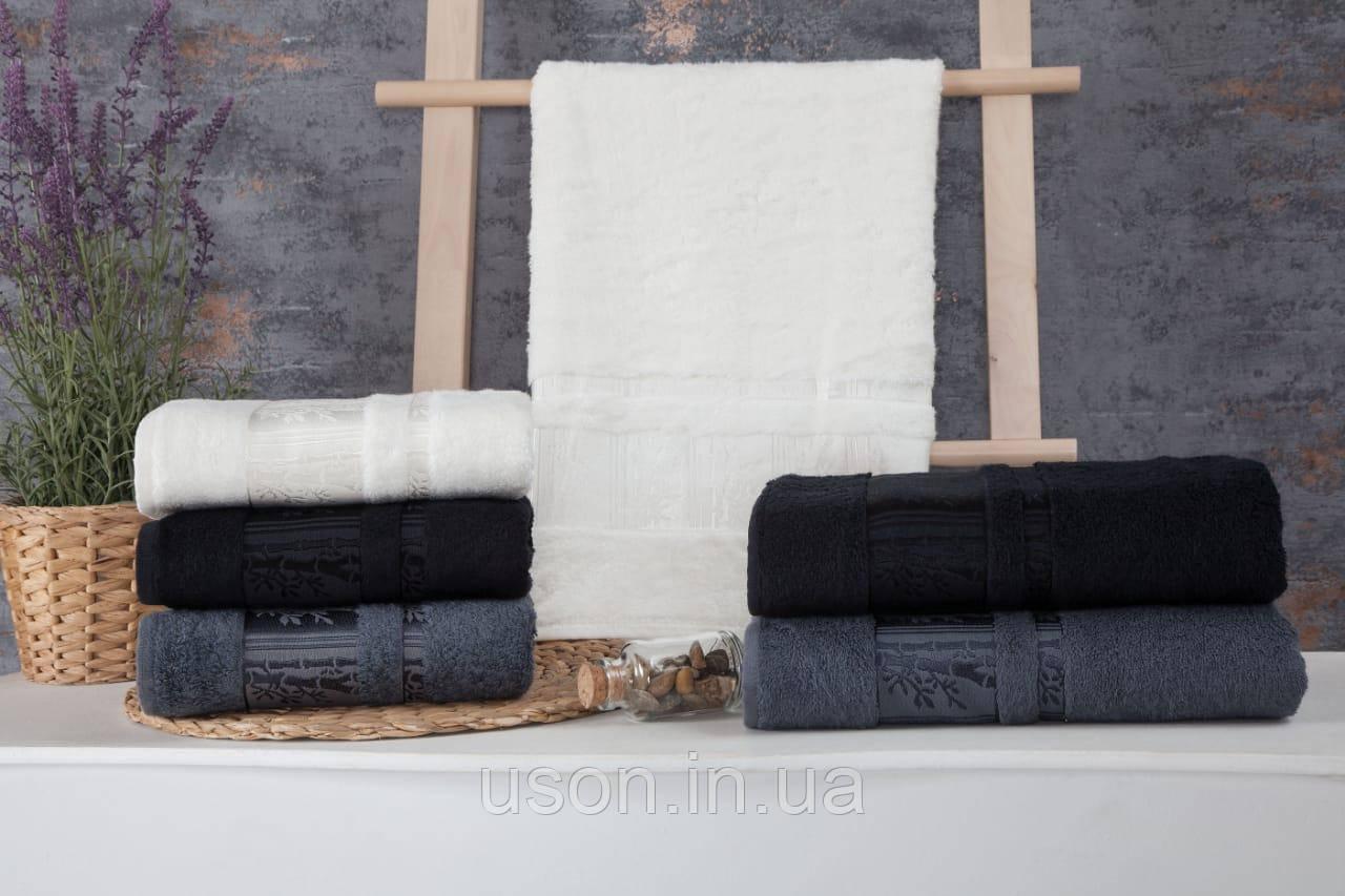 Полотенца бамбуковые  (3шт) 550г/м2 (TM ZERON) BAMBOO AGAC DESEN, Турция