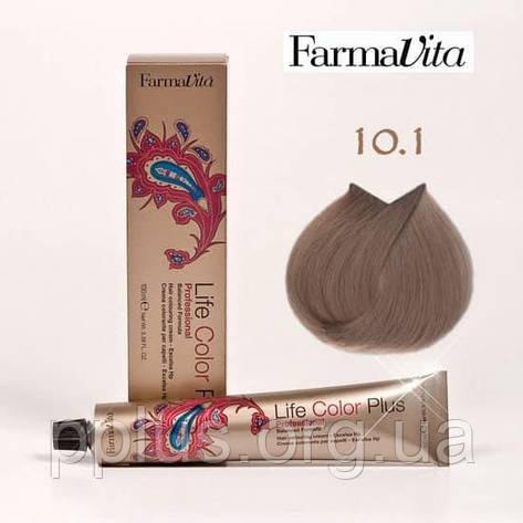 Краска для волос 10.1 Life Color Plus Платиновый блондин пепельный 100 мл, фото 2