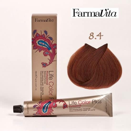 Краска для волос 8.4 Life Color Plus Светлый блондин медный 100 мл