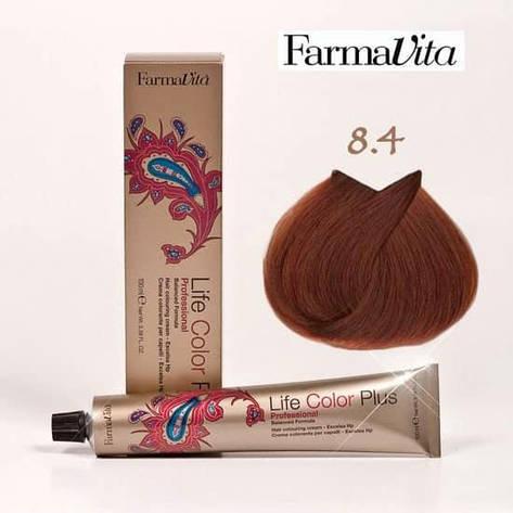 Краска для волос 8.4 Life Color Plus Светлый блондин медный 100 мл, фото 2
