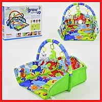 Развивающий коврик для младенцев с бортиками Игровой коврик для ребенка от 0 мес