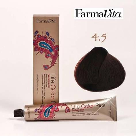 Краска для волос 4.5 Life Color Plus Каштановый (красное дерево) 100 мл, фото 2