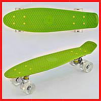 Скейт Пенни борд Салатовый детский скейт Детский скейтборд Детские пенни борды Скейт для детей