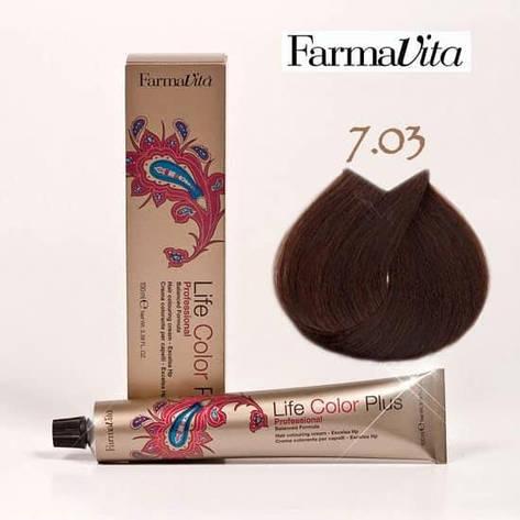 Краска для волос 7.03 Life Color Plus Теплый блондин 100 мл, фото 2