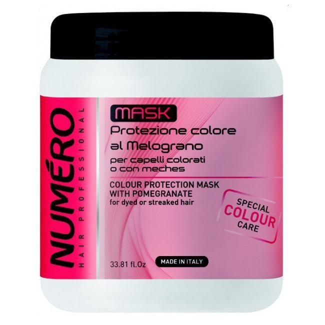 Маска для захисту кольору волосся з екстрактом граната Brelil Numero 1000 мл