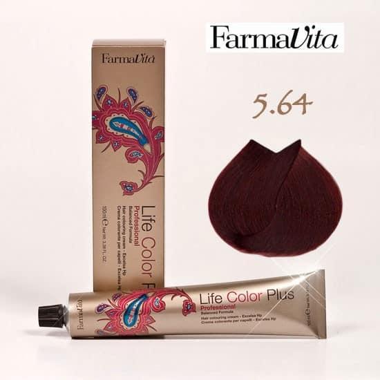 Краска для волос 5.64 Life Color Plus Светло-каштановый медно-красный 100 мл