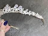 VIPs Акуратна низенька маленька діадема класу люкс з ювелірними діамантами цирконами та посрібленням, фото 3