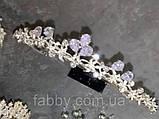 VIPs Акуратна низенька маленька діадема класу люкс з ювелірними діамантами цирконами та посрібленням, фото 4