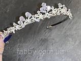 VIPs Акуратна низенька маленька діадема класу люкс з ювелірними діамантами цирконами та посрібленням, фото 6