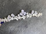 VIPs Акуратна низенька маленька діадема класу люкс з ювелірними діамантами цирконами та посрібленням, фото 5