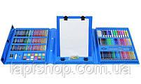 Набор для рисования с мольбертом Just Amazing в чемоданчике (208 предметов) Синий, фото 2