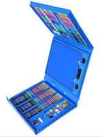 Набор для рисования с мольбертом Just Amazing в чемоданчике (208 предметов) Синий, фото 3