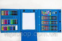 Набор для рисования с мольбертом Just Amazing в чемоданчике (208 предметов) Синий, фото 6
