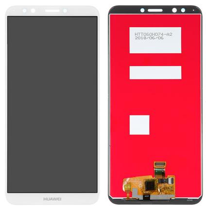 Дисплей (экран) для Huawei Honor 7C (LND-AL30) с сенсором (тачскрином) белый, фото 2