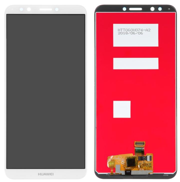 Дисплей (экран) для Honor 7C LND-AL30 з сенсором (тачскріном) белый Оригинал