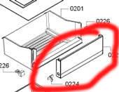 Панель овощного ящика холодильник Bosch KGV39VI31, KGV39VW31 00705899