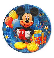 """Тарелки бумажные одноразовые детские """" Микки Маус """". 18 см.10 шт."""