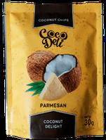 Кокосовые чипсы с сыром пармезан 30 г