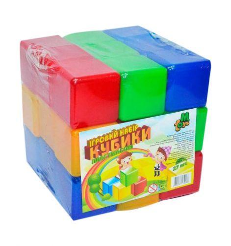 Кубики цветные (27 штук) 09064