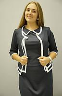 Платье Жасмин с жакетом больших размеров