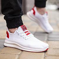 Мужские спортивные легкие белые Кроссовки, текстильные повседневные, качественные из ткани, для зала