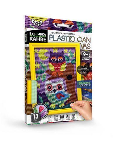 """Вышивка на пластиковой канве """"PLASTIC CANVAS: Совы"""" PC-01-01"""