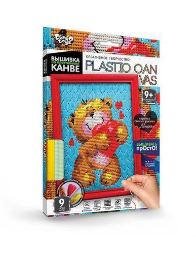 """Вышивка на пластиковой канве """"PLASTIC CANVAS: Мишка"""" PC-01-03"""