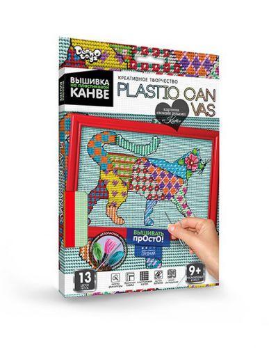 """Вышивка на пластиковой канве """"PLASTIC CANVAS: Кот"""" PC-01-08"""