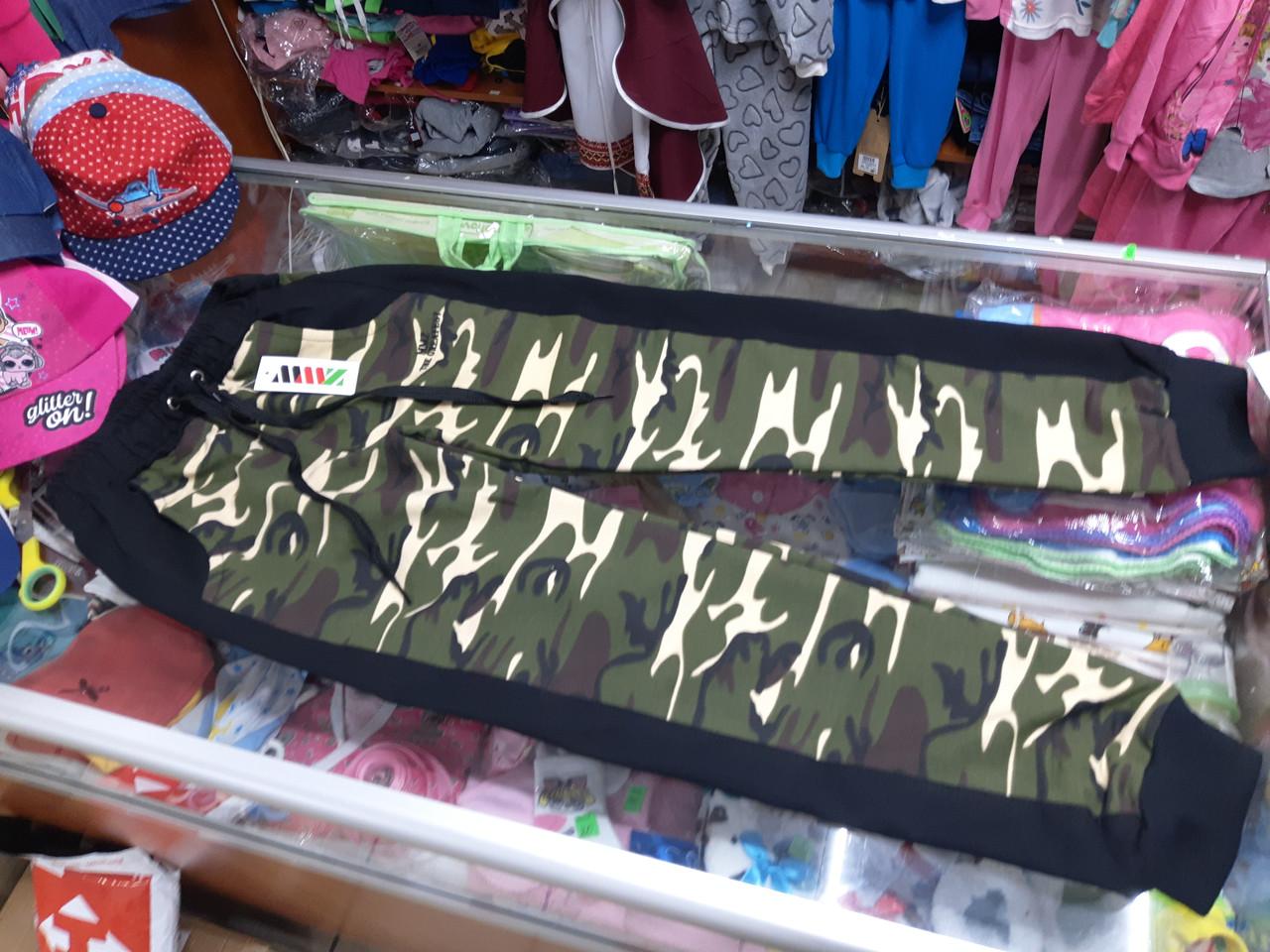Спортивные брюки штаны для мальчика защитные милитари р.140 - 170