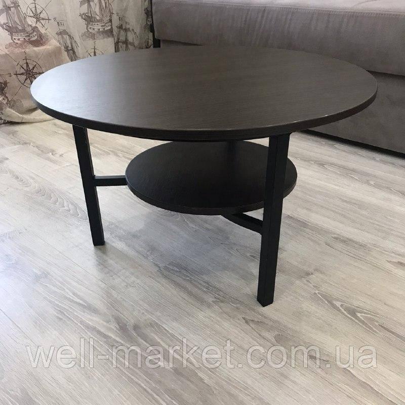Журнальный круглый стол в стиле Loft (венге магия)
