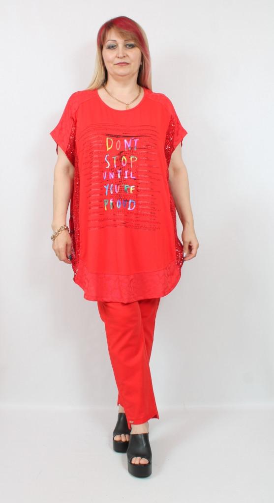 Турецкая летняя длинная туника - футболка больших размеров 58-70