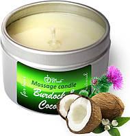 Теплая маска для волос Репейник и Кокос , (50 мл), укрепление и восстановление волос