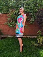 Классическое летнее платье цветочного принта Kiwe.Турция