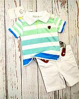 Футболка поло и шорты для мальчика TM Monna Rosa. 74