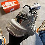 🔥 ВИДЕО ОБЗОР 🔥 Nike Air More Uptempo 720 White Silver Найк Аир 🔥 Найк мужские кроссовки 🔥, фото 4