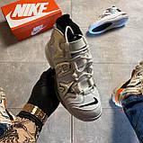 🔥 ВИДЕО ОБЗОР 🔥 Nike Air More Uptempo 720 White Silver Найк Аир 🔥 Найк мужские кроссовки 🔥, фото 6