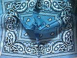 Бандана -платок из хлопка  с переходящей тональностью серый -розовый и голубой, фото 2