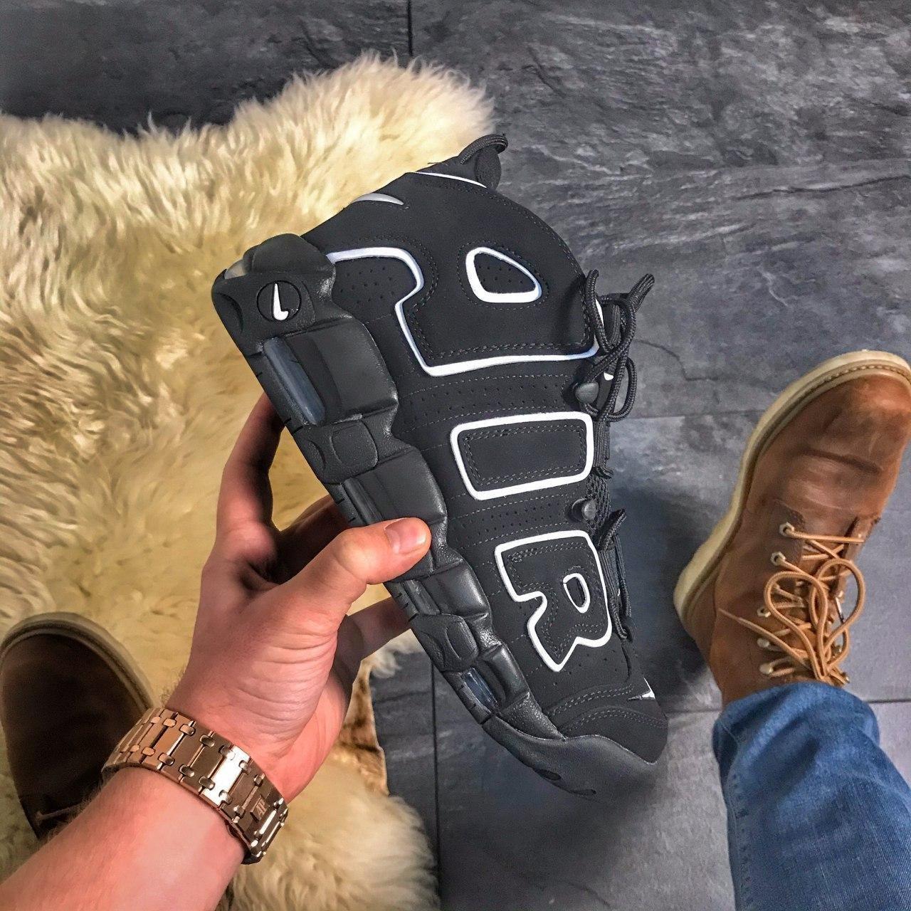 🔥 ВИДЕО ОБЗОР 🔥 Air More Uptempo Black Черный Найк Аир Аптемпо 🔥 Найк мужские кроссовки 🔥