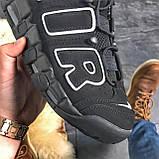 🔥 ВИДЕО ОБЗОР 🔥 Air More Uptempo Black Черный Найк Аир Аптемпо 🔥 Найк мужские кроссовки 🔥, фото 5