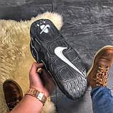 🔥 ВИДЕО ОБЗОР 🔥 Air More Uptempo Black Черный Найк Аир Аптемпо 🔥 Найк мужские кроссовки 🔥, фото 8