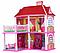 Кукольный домик 6980 Арина, для кукол до 16 смДвухэтажный, 5 комнат,  с мебелью в коробке, фото 3