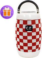 Колонка музыкальная блютуз LZ M128 Red + White