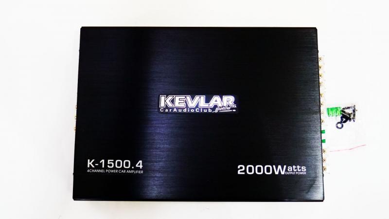 Усилитель звука автомобильный Kevlar K-1500.4 2000 Вт