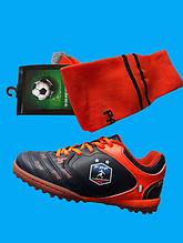 Кроссовки сороконожки для футбола для самых маленьких размеры 30-36 + Гетры