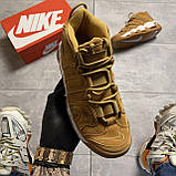 🔥 ВИДЕО ОБЗОР 🔥 Nike Air More Uptempo Brown Fleecy Skin Найк Аир 🔥 Найк мужские кроссовки 🔥, фото 2