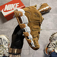 🔥 ВИДЕО ОБЗОР 🔥 Nike Air More Uptempo Brown Fleecy Skin Найк Аир 🔥 Найк мужские кроссовки 🔥