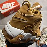🔥 ВИДЕО ОБЗОР 🔥 Nike Air More Uptempo Brown Fleecy Skin Найк Аир 🔥 Найк мужские кроссовки 🔥, фото 3