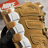 🔥 ВИДЕО ОБЗОР 🔥 Nike Air More Uptempo Brown Fleecy Skin Найк Аир 🔥 Найк мужские кроссовки 🔥, фото 4